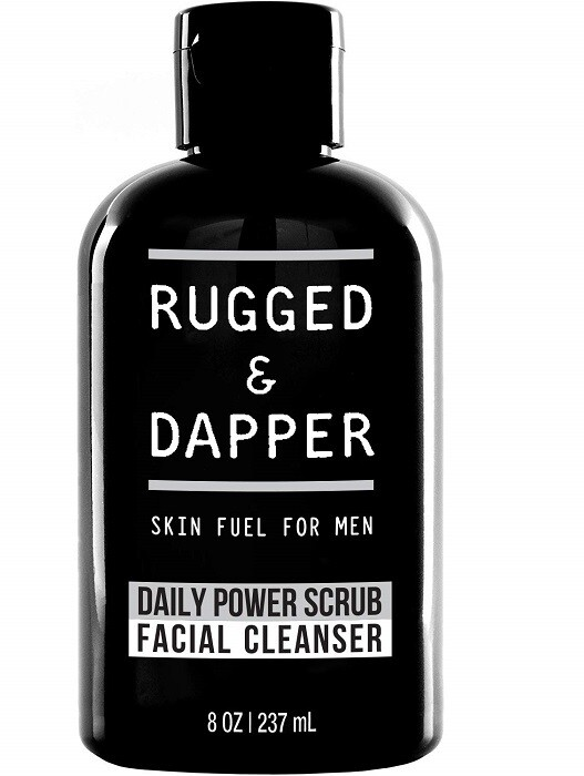 Rugged and Dapper Daily Face Wash and Scrub Cleanser for Men, 8 Ounce