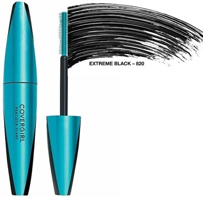 Covergirl Peacock Flare Waterproof Mascara, #820 Extreme Black, 1 Count