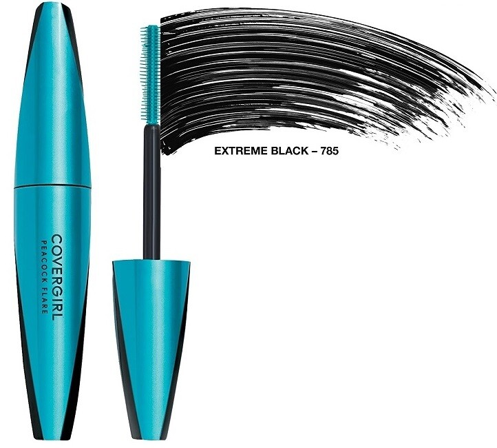 Covergirl Peacock Flare Mascara, #785 Extreme Black, 1 Count