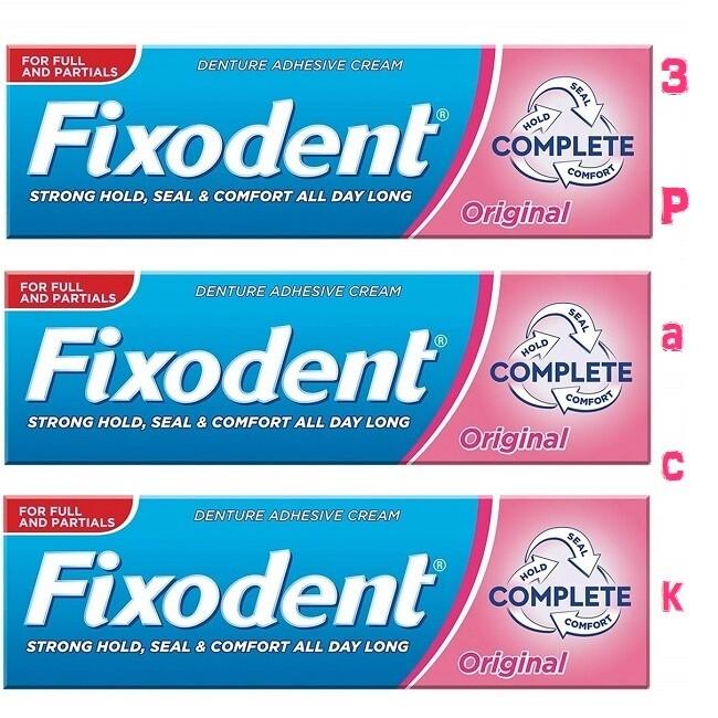 Fixodent Complete Original Denture Adhesive Cream 1.4 Ounce, 3 Pack