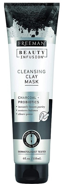 Freeman Beauty Infusion Charcoal Cleansing Clay Mask, 4 fl Ounce