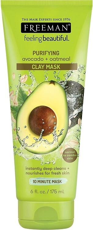 Freeman Facial Avocado Oat Clay Mask, 6 Ounce