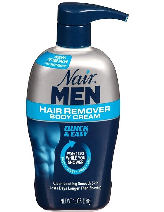 Nair Mens Hair Remover Body Cream, 13 Ounce