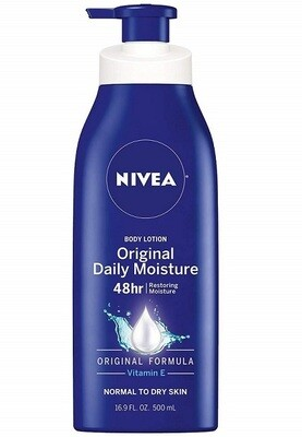 Nivea Original Daily Moisture Body Lotion for Normal To Dry Skin, 16.9 fl Ounce