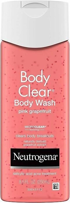 Neutrogena Body Clear Body Wash with Salicylic Acid, Pink Grapefruit, 8.5 fl Ounce