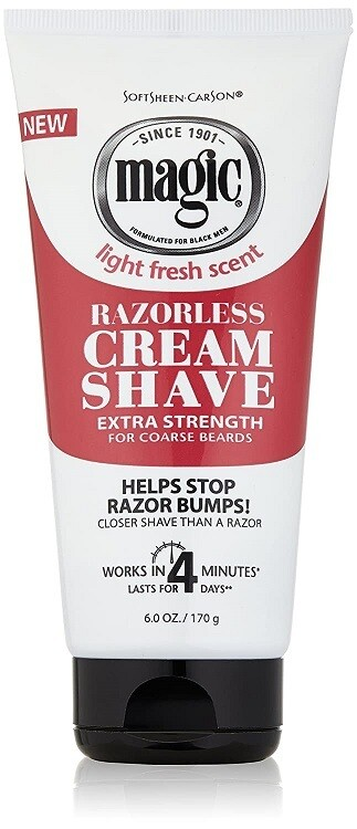 Magic Razorless Shaving Cream, Extra Strength, 6 Ounce