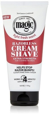Magic Razorless Shaving Cream, Extra Strength, 6 Ounce