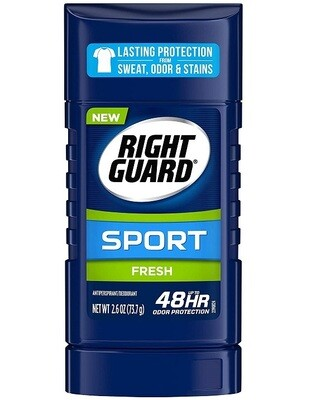 Right Guard Sport Antiperspirant Deodorant Stick, Fresh, 2.6 Ounce