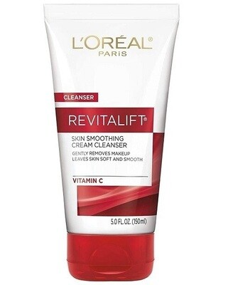 LOreal Paris Revitalift Radiant Smoothing Wet Facial Cream Cleanser, 5 Ounce