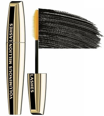 LOreal Paris Voluminous Million Lashes Mascara, Black, 0.3 fl Ounce
