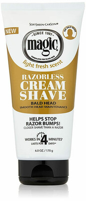 Magic Razorless Shaving Cream for Bald Head, 6 Ounce