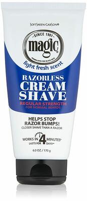 Magic Razorless Shaving Cream, Regular Strength, 6 Ounce