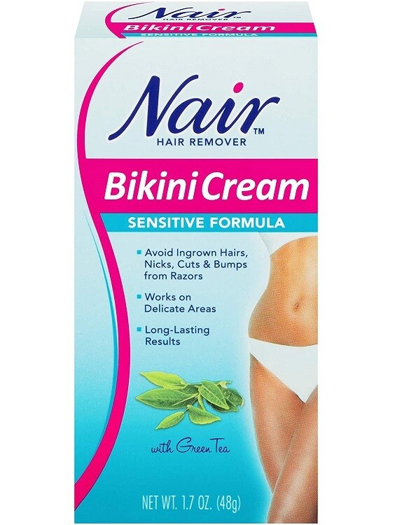 Nair Sensitive Bikini Cream Hair Remover - 1.7 Ounce