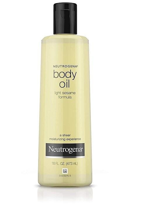Neutrogena Body Oil for Dry Skin, Sheer Body Moisturizer, 16 Fl Ounce