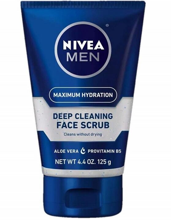 Nivea for Men Original, Deep Cleaning Face Scrub 4.4 Ounce
