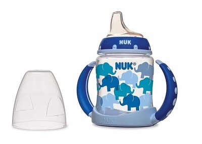 NUK Trendline Learner Cup with Silicone Spout,1 Cup, (Color May Vary)