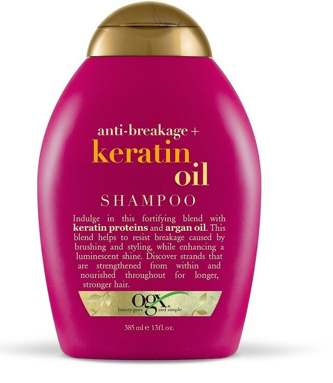 OGX Anti-Breakage + Keratin Oil Hair Shampoo, 13 Ounce