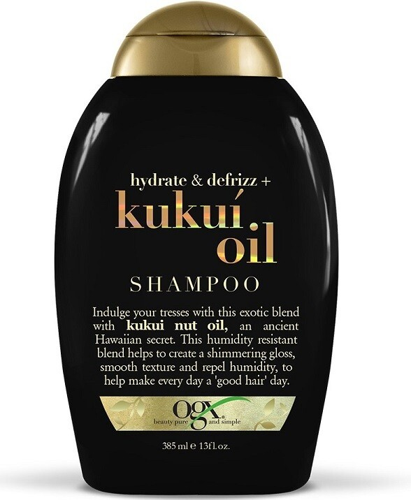 OGX Hydrate + Defrizz Kukui Oil Hair Shampoo, 13 Ounce