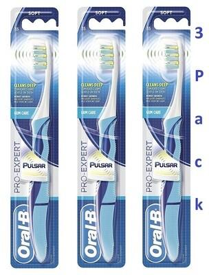 Oral-B Pulsar Pro Expert Toothbrush, #35, Soft Bristles, Pack of 3