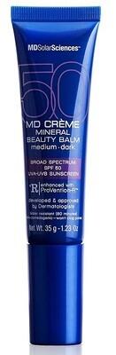 MDSolarSciences Creme Mineral Beauty Balm SPF 50,  Medium-Dark, 1.23 Ounce