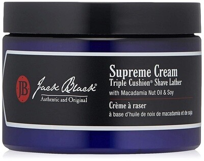 Jack Black Supreme Cream Triple Cushion Shave Lather, 9.5 Ounce
