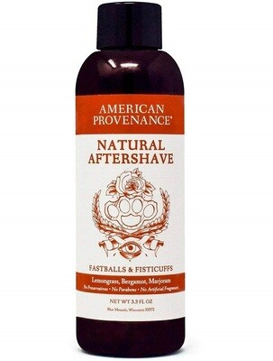 American Provenance Aftershave Fastballs Fisticuffs, 3.3 fl Ounce