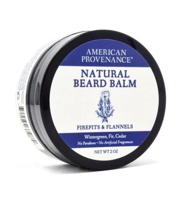 American Provenance Natural Beard Balm, Firepits and Flannels, 2 Ounce