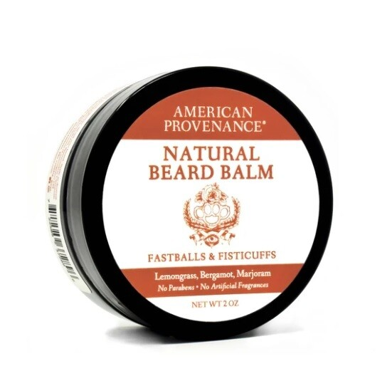 American Provenance Natural Beard Balm, Fastballs And Fisticuffs, 2 Ounce