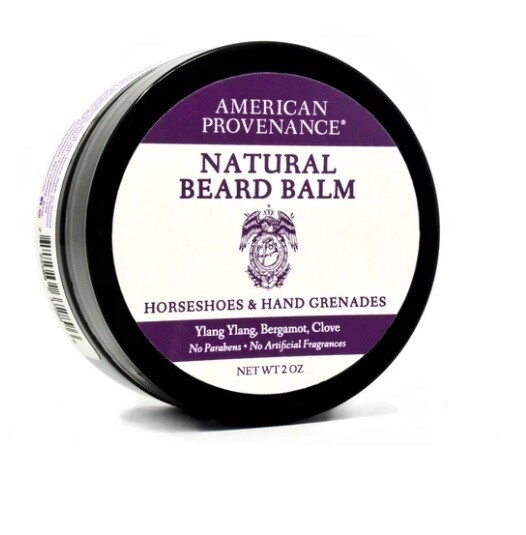 American Provenance Natural Beard Balm, Horseshoes And Hand Grenades, 2 Ounce