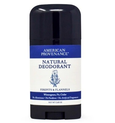 American Provenance Natural Mens Deodorant, Firepits and Flannels, 2.65 Ounce