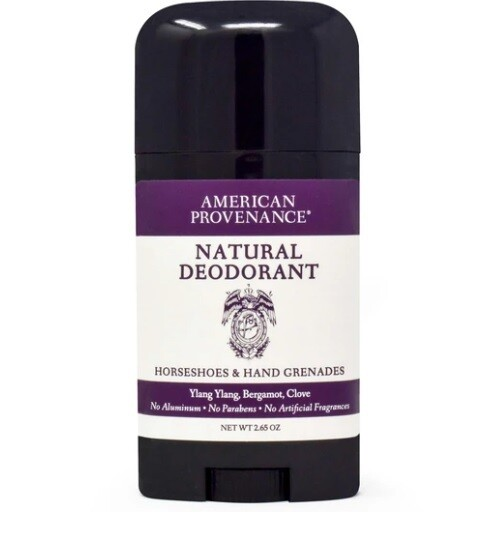 American Provenance Natural Mens Deodorant, Horseshoes and Hand Grenades, 2.65 Ounce