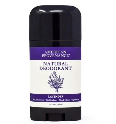 American Provenance Natural Deodorant, Lavender, 2.65 Ounce