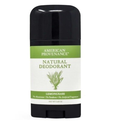 American Provenance Natural Deodorant, Lemongrass, 2.65 Ounce