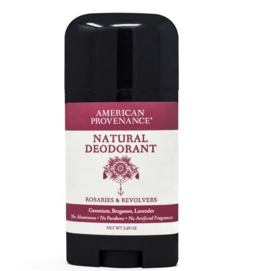 American Provenance Natural Deodorant, Rosaries and Revolvers, 2.65 Ounce