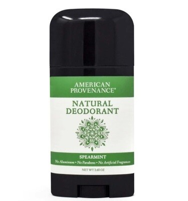 American Provenance Natural Deodorant, Spearmint, 2.65 Ounce