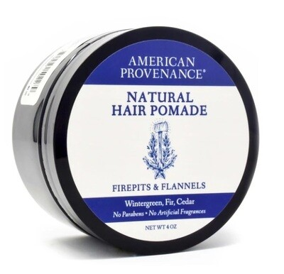 American Provenance Natural Hair Pomade, Firepits and Flannels, 4 Ounce