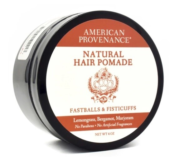 American Provenance Natural Hair Pomade, Fastballs and Fisticuffs, 4 Ounce