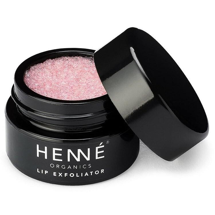 Henne Organics Lip Exfoliator, Natural and Organic Sugar Scrub, Rose Diamonds, 0.35 fl Ounce