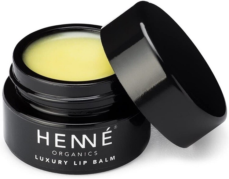 Henne Organics Luxury Lip Balm, Natural and Organic Moisturizer, 0.35 fl Ounce