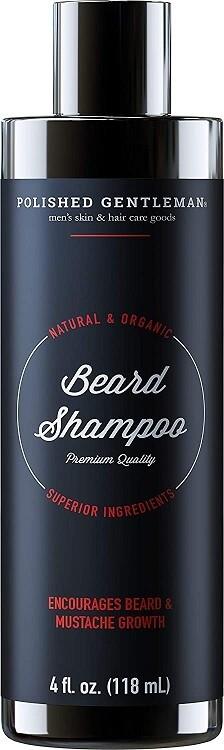 Polished Gentleman Beard Growth and Thickening Shampoo, Small Beard, 4 fl Ounce