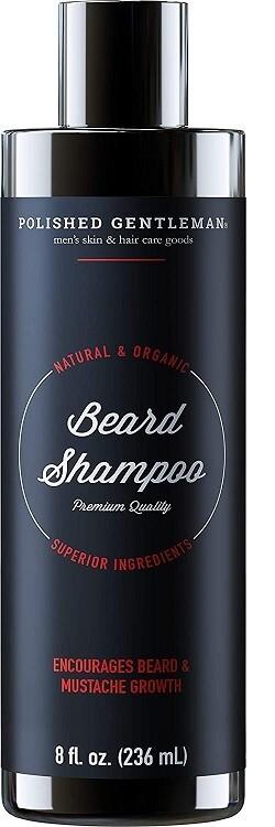 Polished Gentleman Beard Growth and Thickening Shampoo, Small Beard, 8 fl Ounce