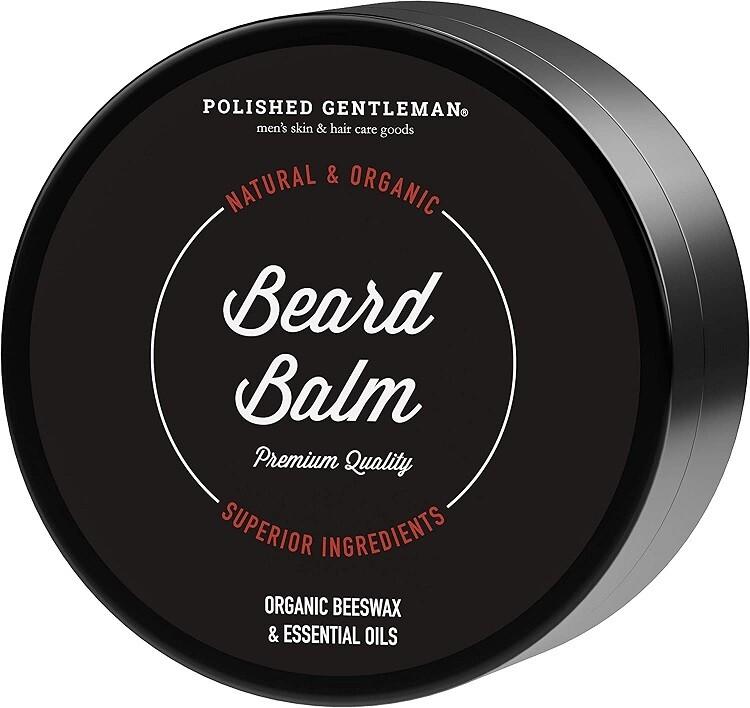 Polished Gentleman Beard Balm, Organic Beeswax, 2 Ounce