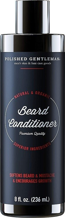 Polished Gentleman Beard Growth and Thickening Conditioner, 8 fl Ounce