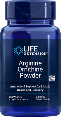 Life Extension Arginine, Ornithine Powder, 5.29 Ounce