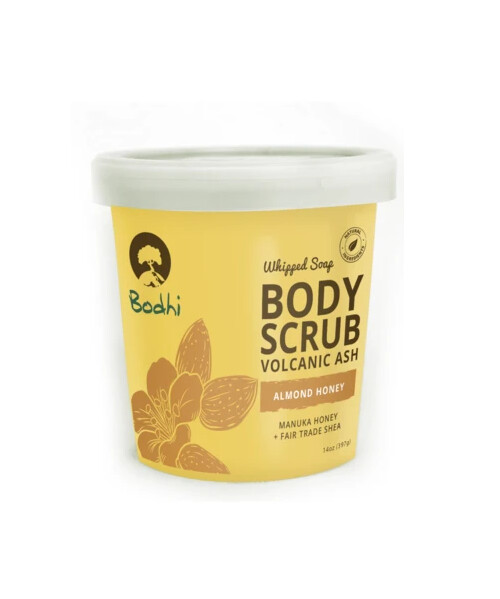 Bodhi Almond Honey Whipped Body Scrub, 14 Ounce