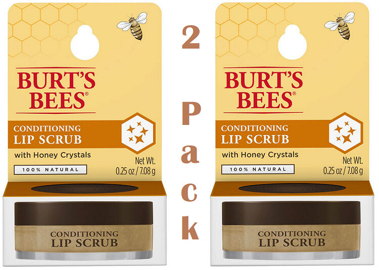 Burt's Bees 100% Natural Conditioning Lip Scrub, 0.25 Ounce, Pack of 2