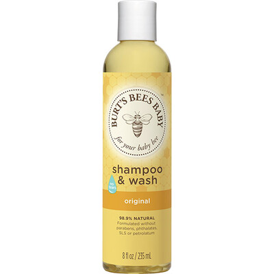 Burt's Bees Baby Shampoo and Wash, Original, 8 Ounce