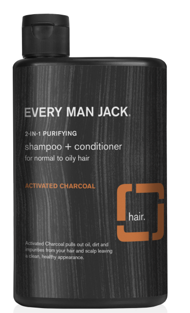 Every Man Jack Activated Charcoal Purifying 2 in 1 Shampoo and Conditioner, 13.5 Ounce