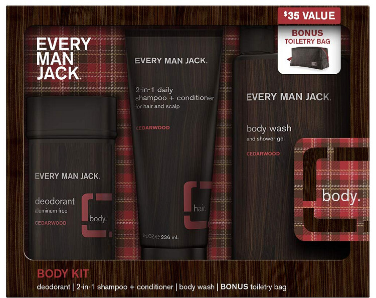 Every Man Jack Cedarwood Body Kit