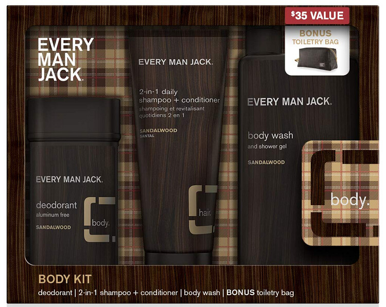 Every Man Jack Sandalwood Body Kit